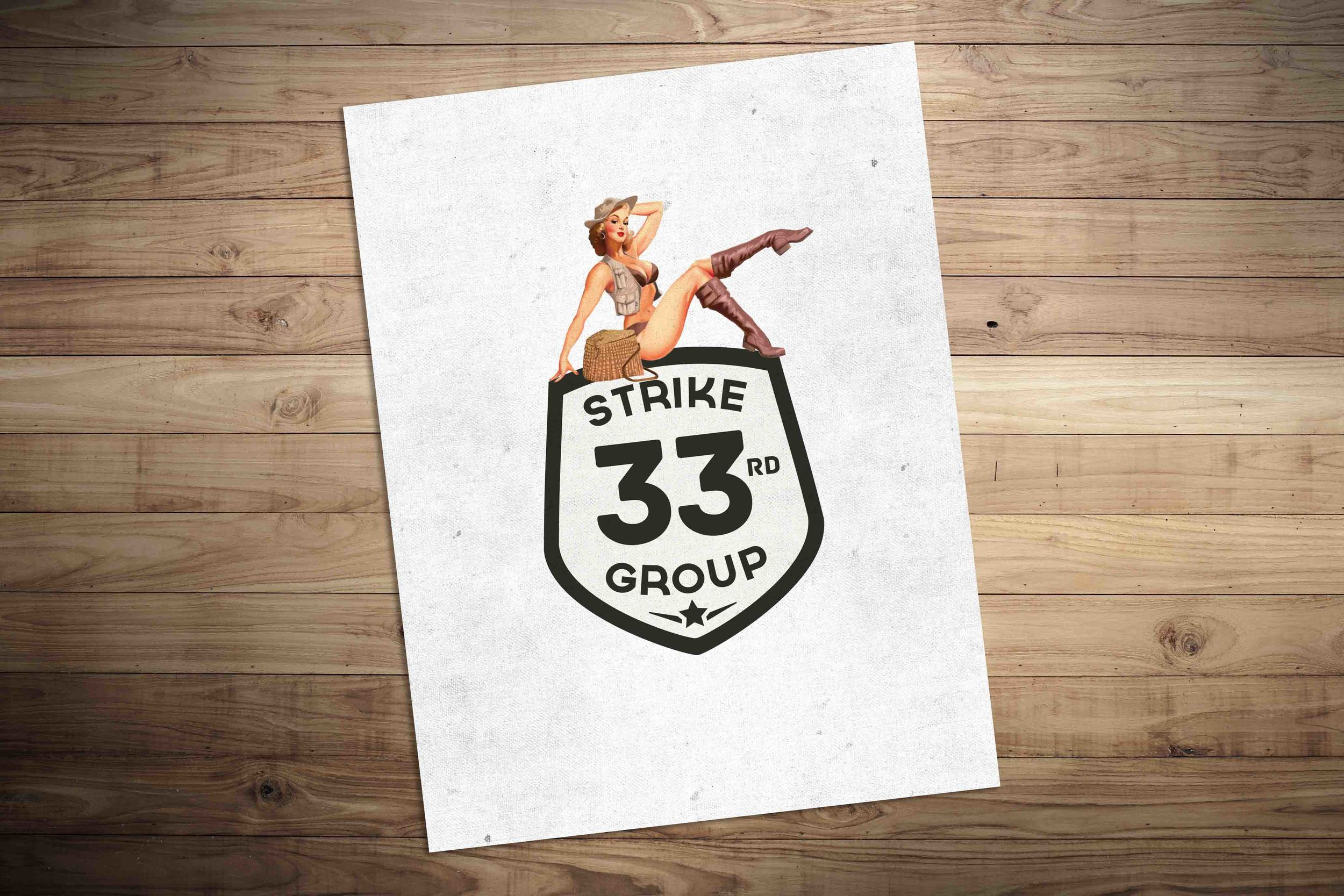 Logo for 33rd Strike Group. See the integrated campaign and case study  here .