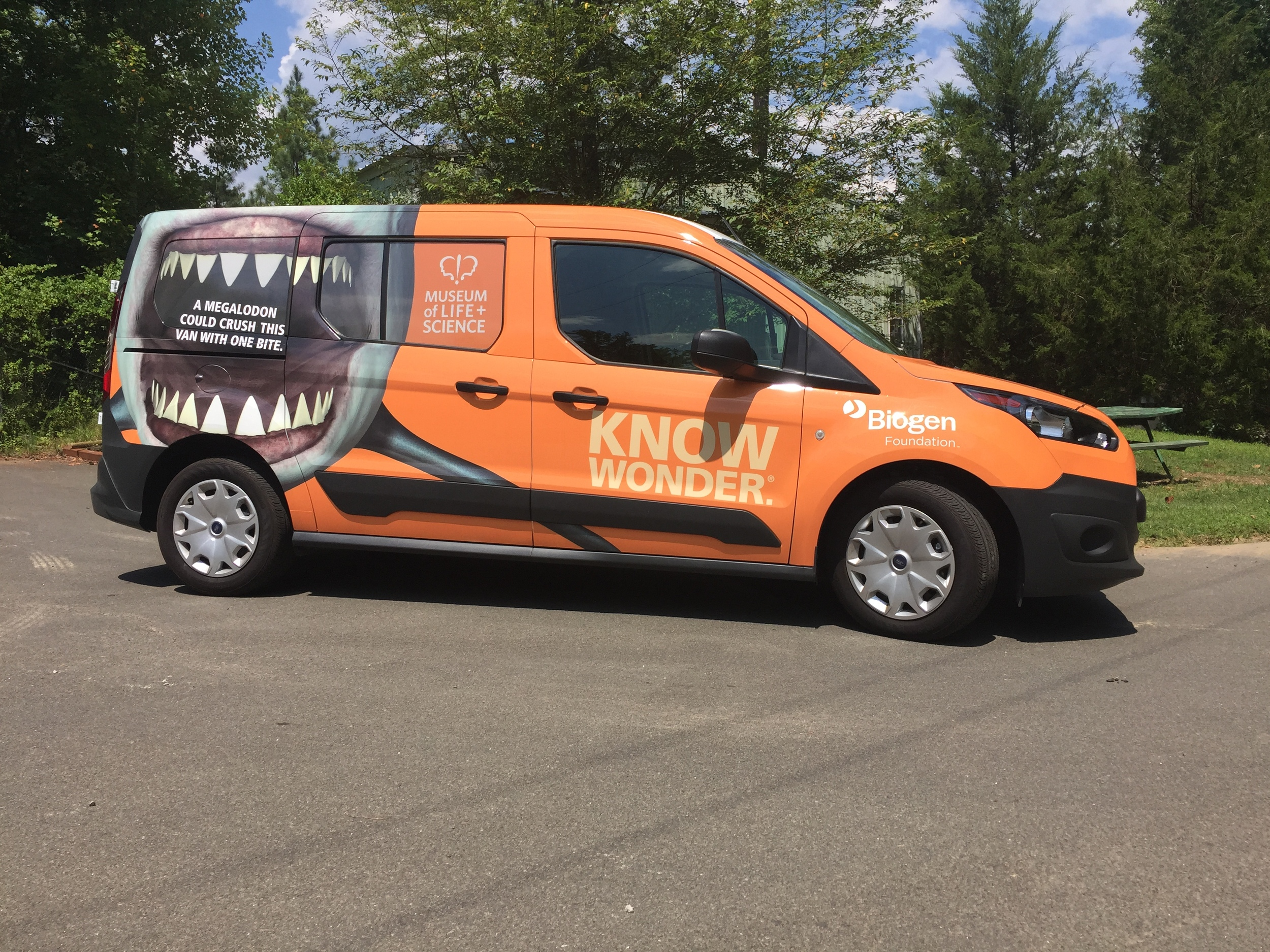 Van Wrap for The Museum of Life + Science.  See the rest of the case study  here .