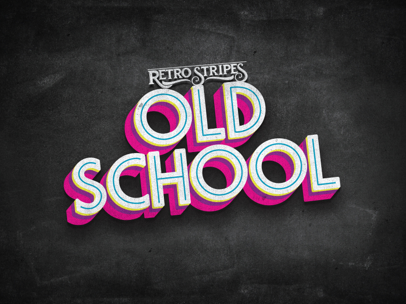"""Old School"" Product Logo"