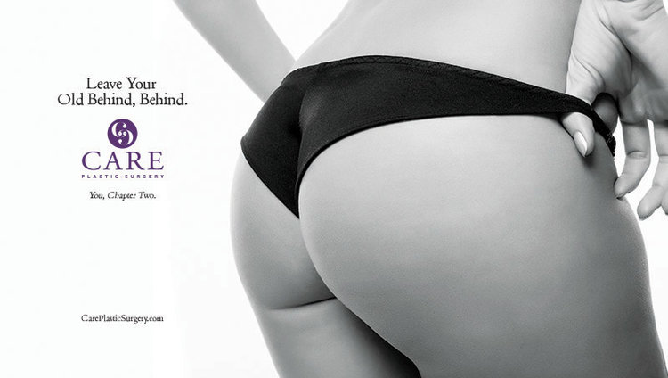 This ad we created for CARE Plastic Surgery earned them a butt-load of attention.