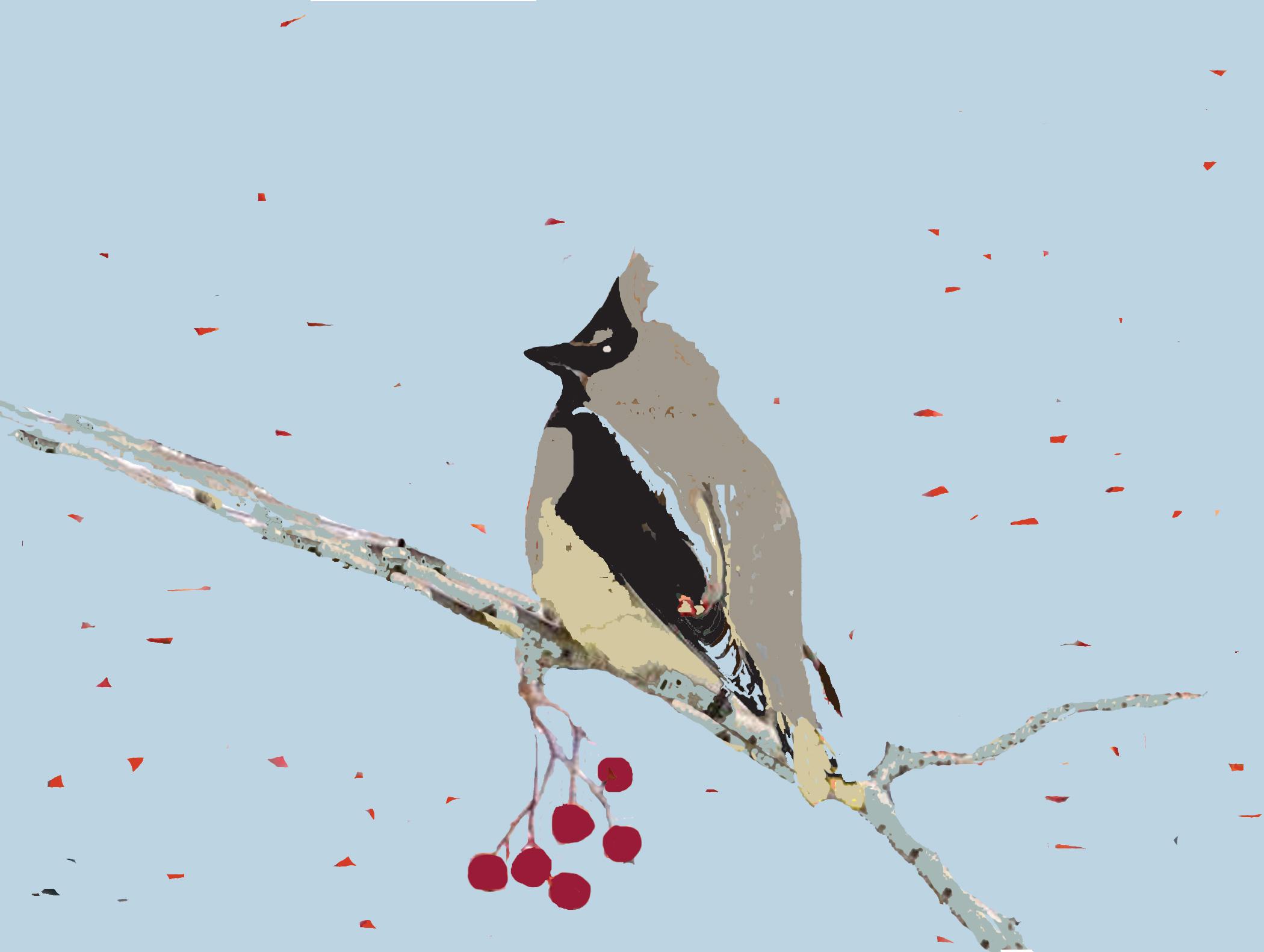 Birdie on a Branch Berries