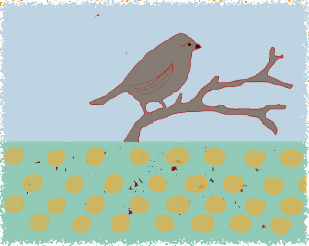 Birdie on a Branch dots