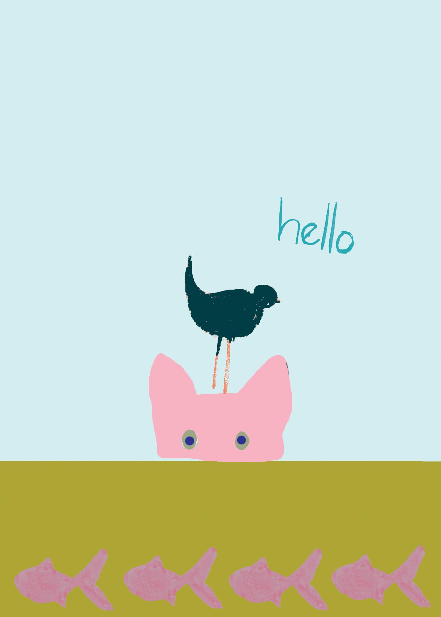 Hello Kitty with Birdie