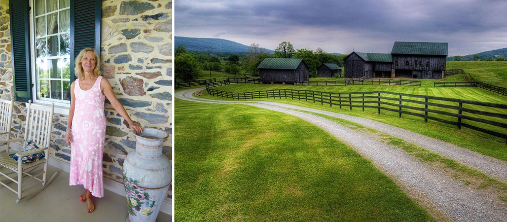 Meet Dot Shetterly, owner of the lovely, rural haven of  Silverbrook Farm .  Silverbrook  is beautifully set amidst the rolling foothills of the Blue Ridge Mountains. Photo courtesy of  Tom Lussier Photography .