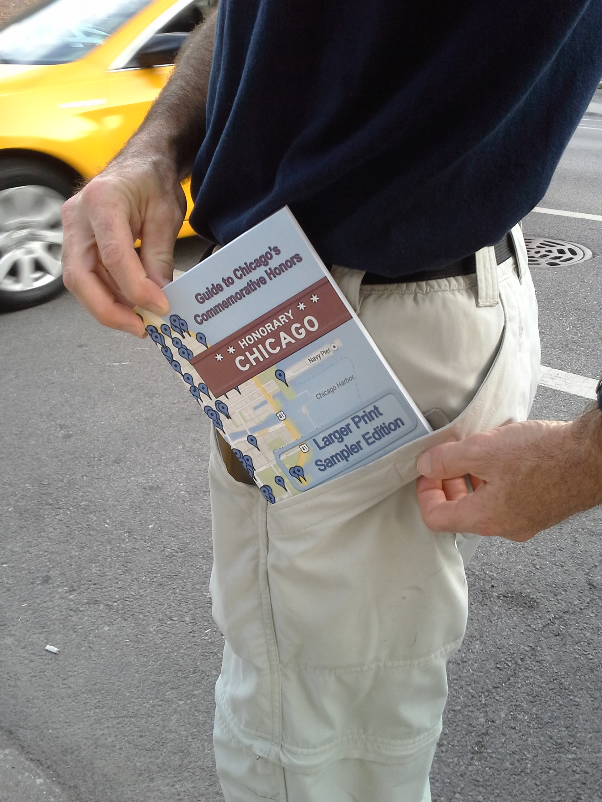 Pocket size, take the Honorary Chicago Guidebook with you. Read it while strolling down Michigan Avenue or at home in your favorite chair.