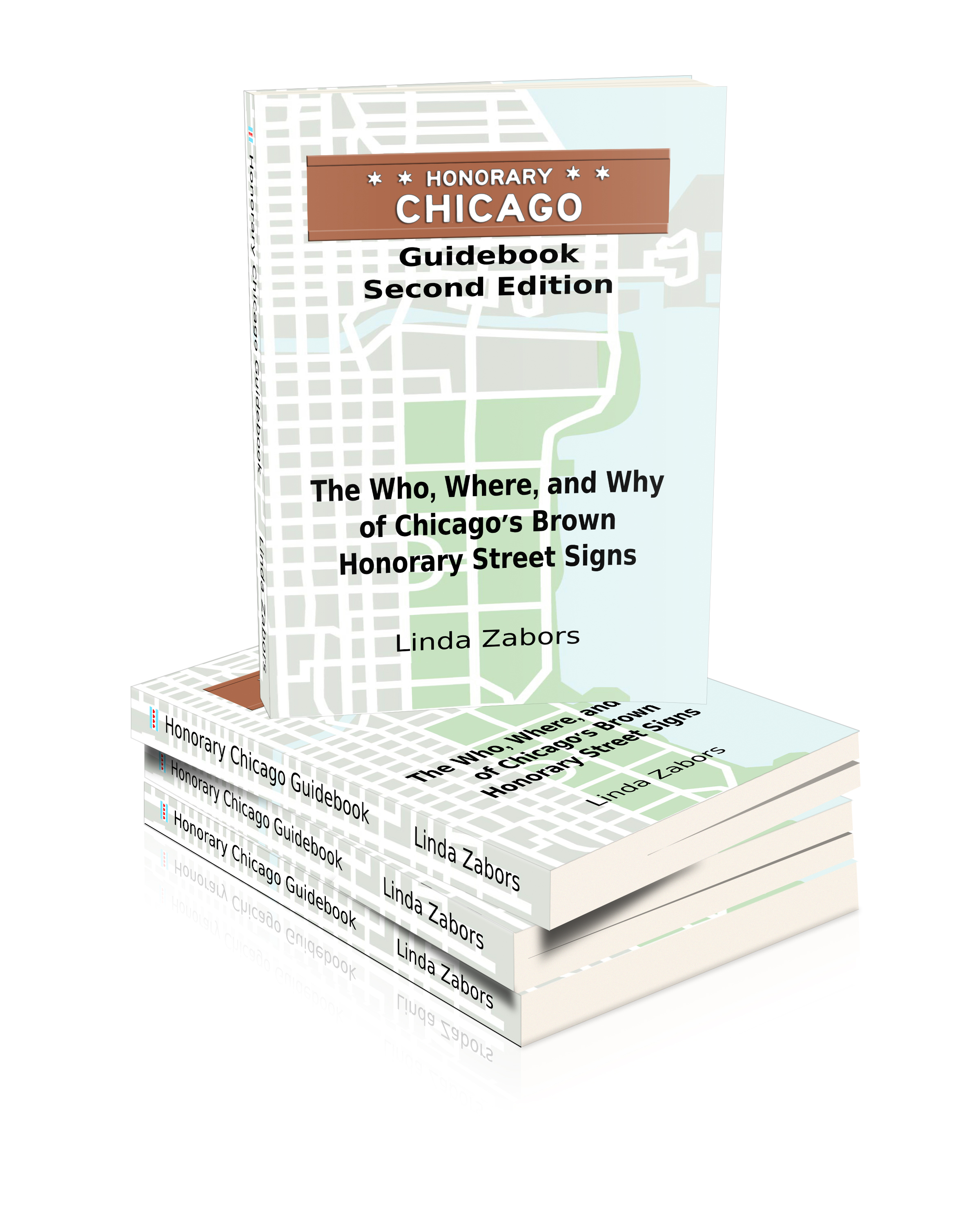 Honorary Chicago Guidebook, 2nd edition brown signs