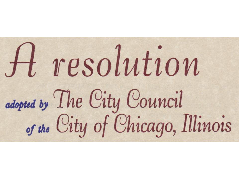 A Resolution of the City Council of Chicago