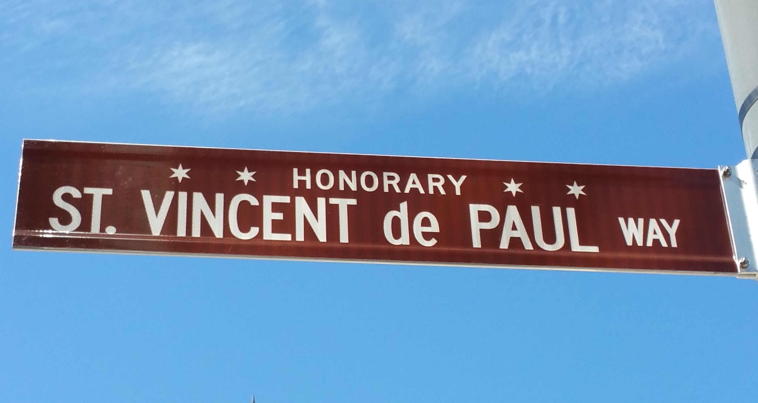 St Vincent de Paul Way - Honorary Chicago sign