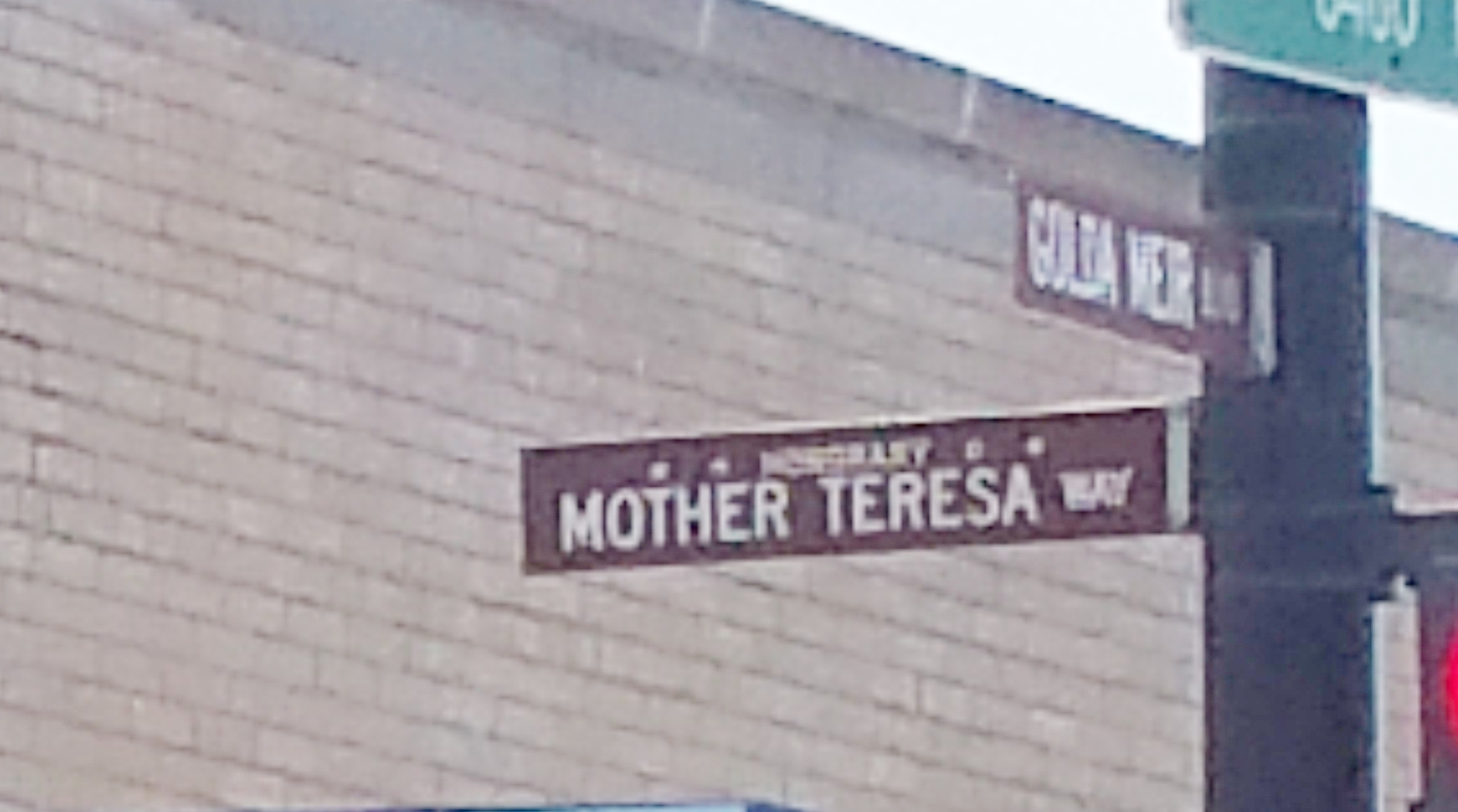 Mother Teresa and Golda Mier Chicago street signs