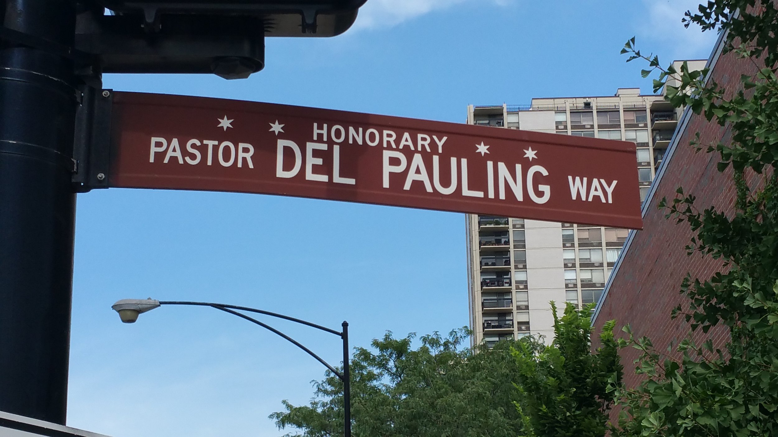 Del Pauling - Pastor of First Evangelical Lutheran Church - Honorary Chicago
