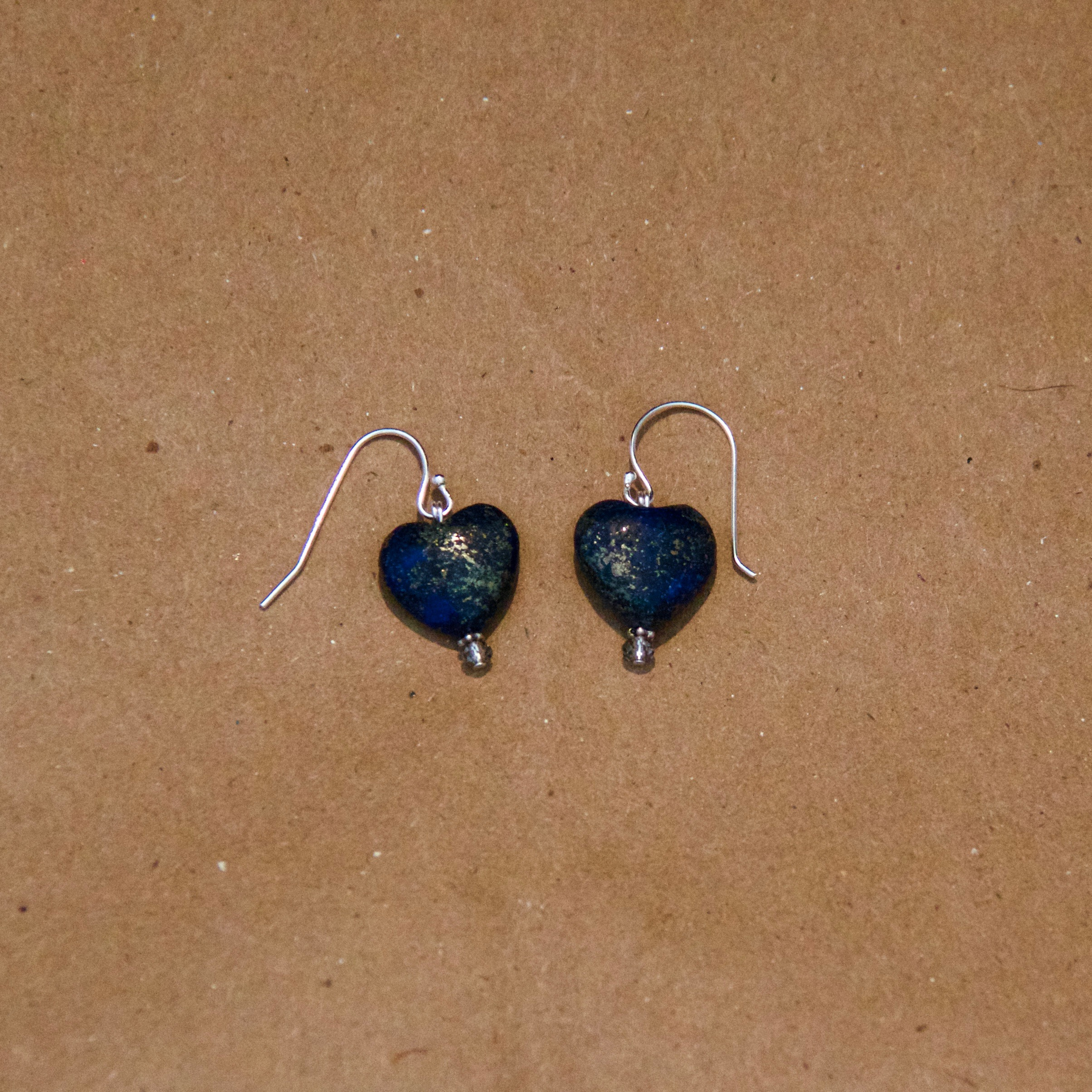 Lapis Lazuli Hearts with Crystals
