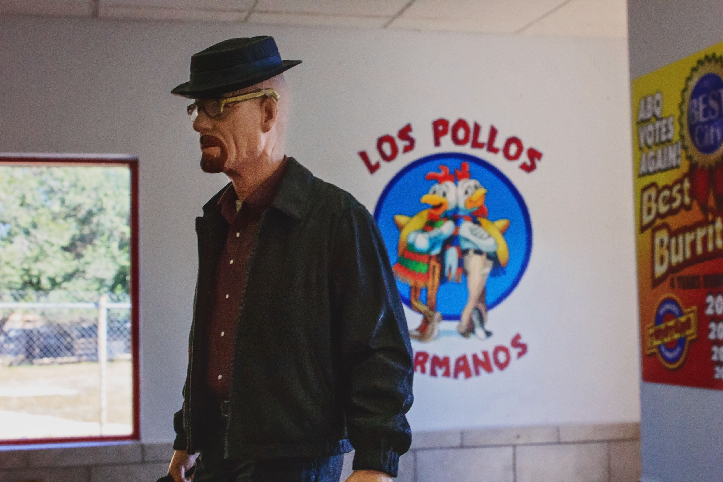 The famous fried chicken place run by Gus Fring in the show is in fact a chain that serves burritos and burgers. Twister's interior remains almost exactly the same as in the TV show, so feel free to take a picture in the famous booth that Walter White used to sit.