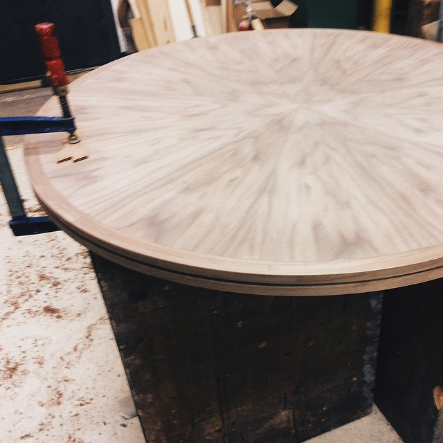 Walnut tabletop coming together #inprogress #furniture #furnituredesign #vscocam #woodcraft #mnmade #stpaul