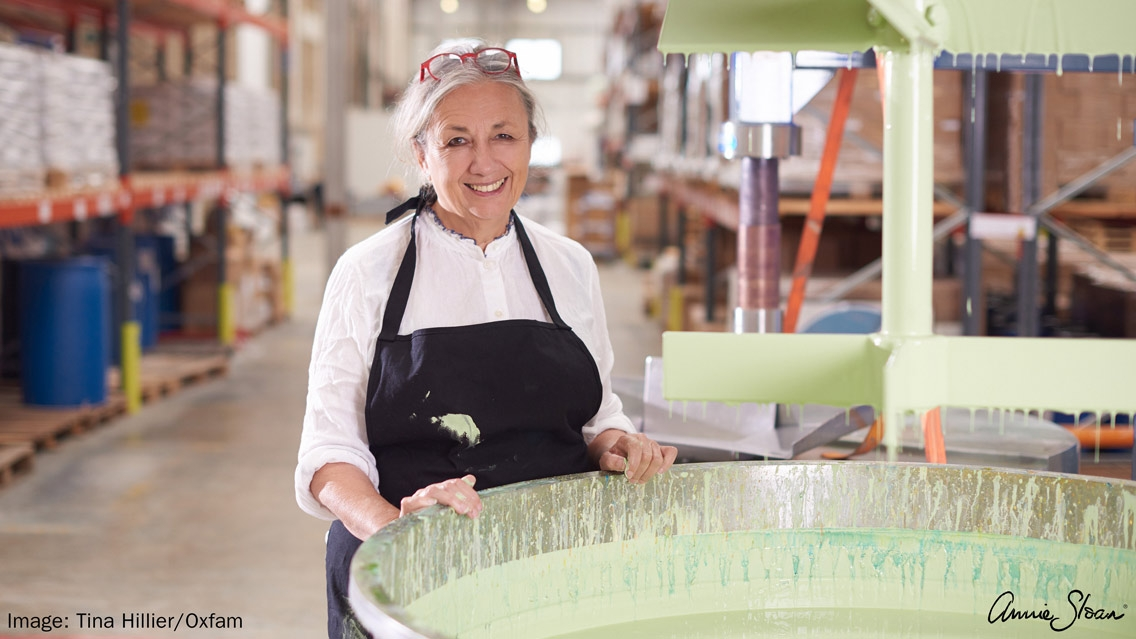About Annie Sloan |   By leading the decorative painting revolution over the last three decades, Annie Sloan is widely recognised as one of the world's most respected experts in paint and colour.   As well as authoring 26 internationally sold books, Annie Sloan transformed the world of furniture paint with the creation of her own brand of decorative paint, Chalk Paint®, in 1990. Annie's fine-art background and contagious enthusiasm for decorative painting has motivated both home painters and experienced professionals, unlocking countless creative potentials over the last 30 years.