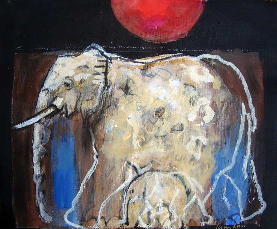 Ghost Elephant . 90 x 60 cms. oil on canvas (2010)
