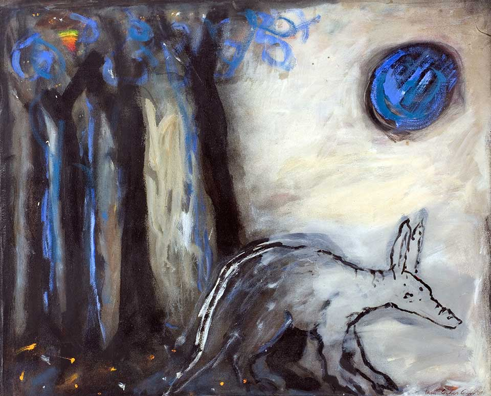 Under the Moon .  Oil on canvas.  160 x 140 cm. (2010)