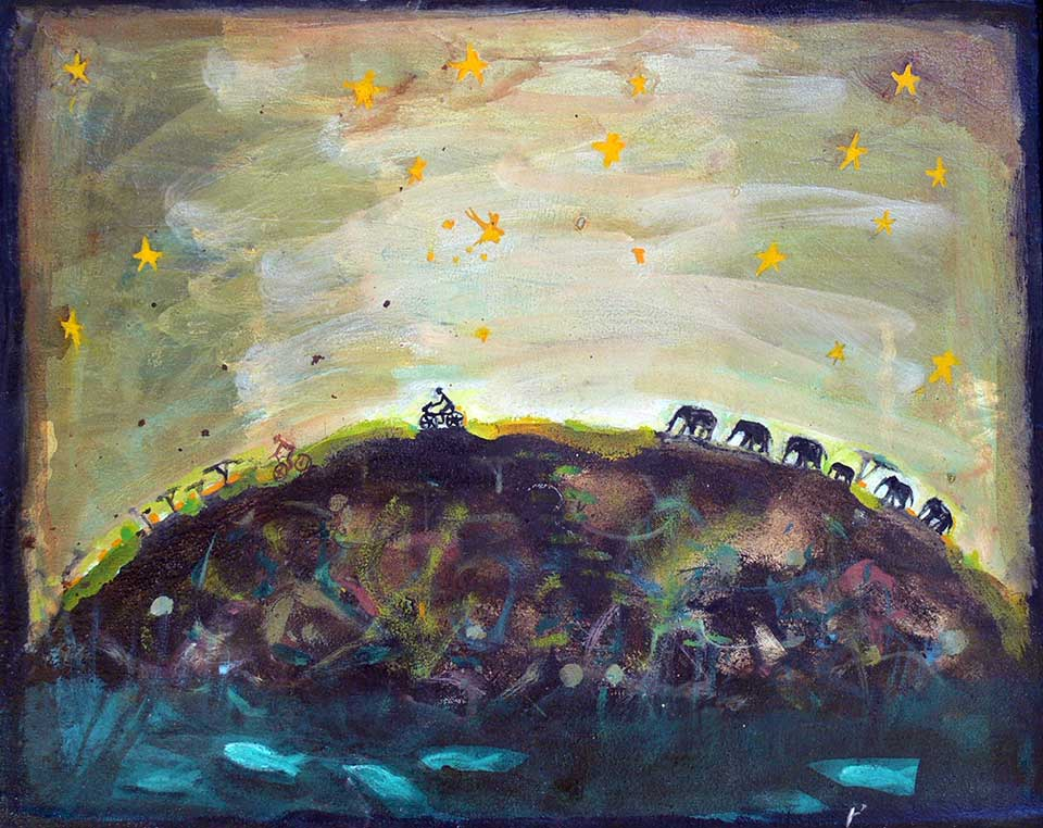 Landscape . Oil on canvas 45 x 45 cms.(2010)