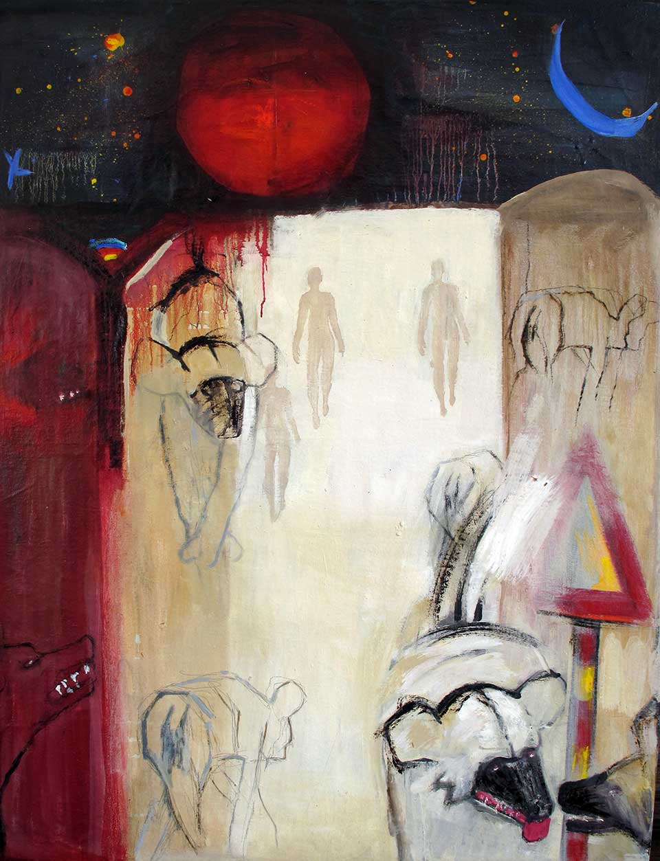 Long Journey . Oil on canvas. 200x130cm. (2012)