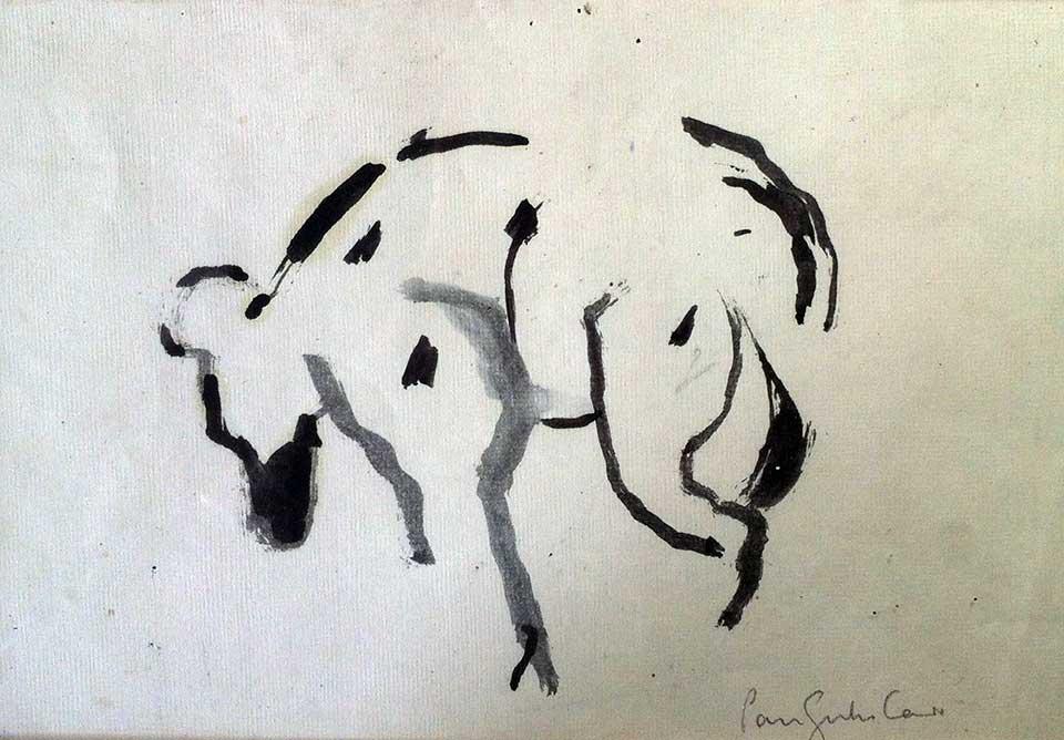 Hyena . Ink on paper. 30 x 30cm. (2009)