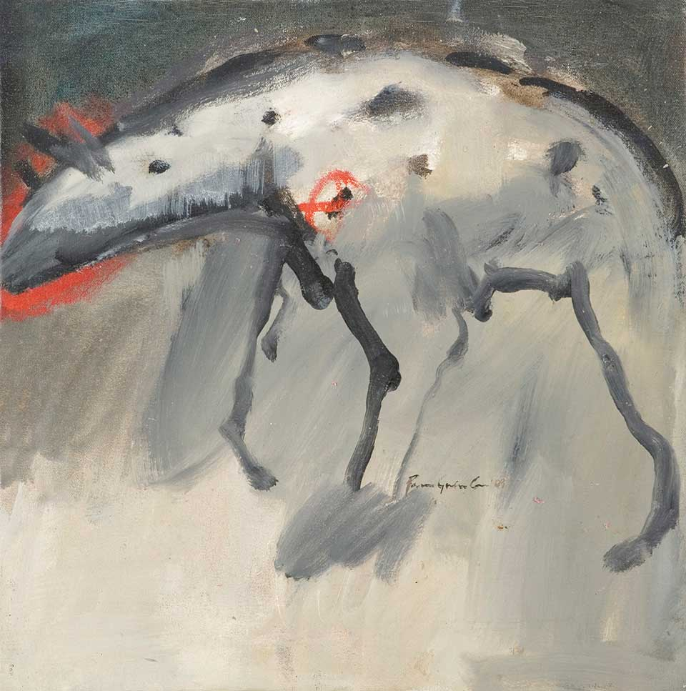 Hyena . Oil on canvas. 50 x 50 cm (2012)