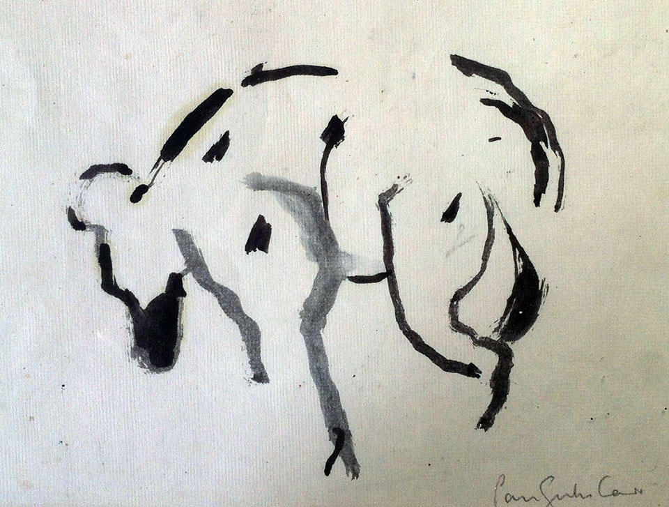 Hyena . Ink on paper. 30 x 30cm. (2009)