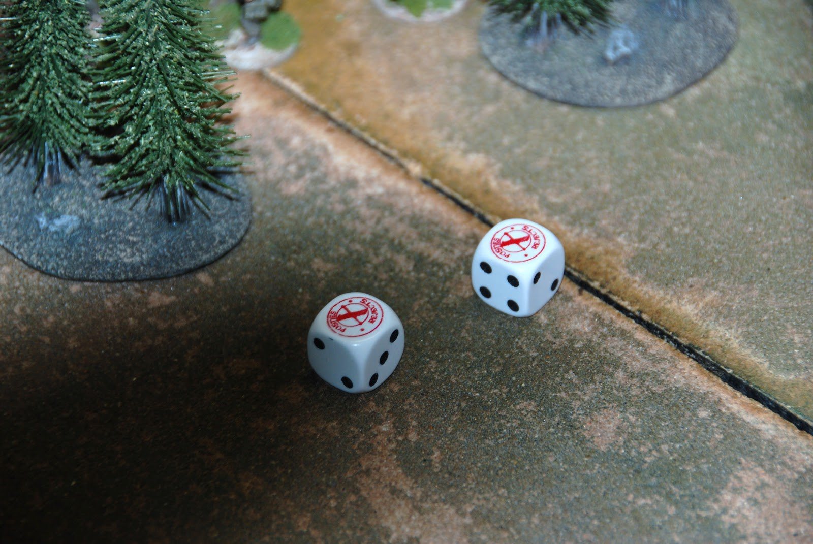 "Posties Rejects dice saw first action: two bloody ""ones""!"