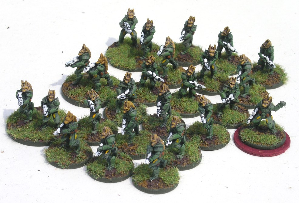 Protolene Hunter Infantry from Critical Mass Games