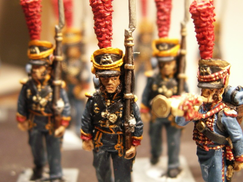 Some of WillieB's fifty 28mm newly-painted Marines de la Garde Imperiale: