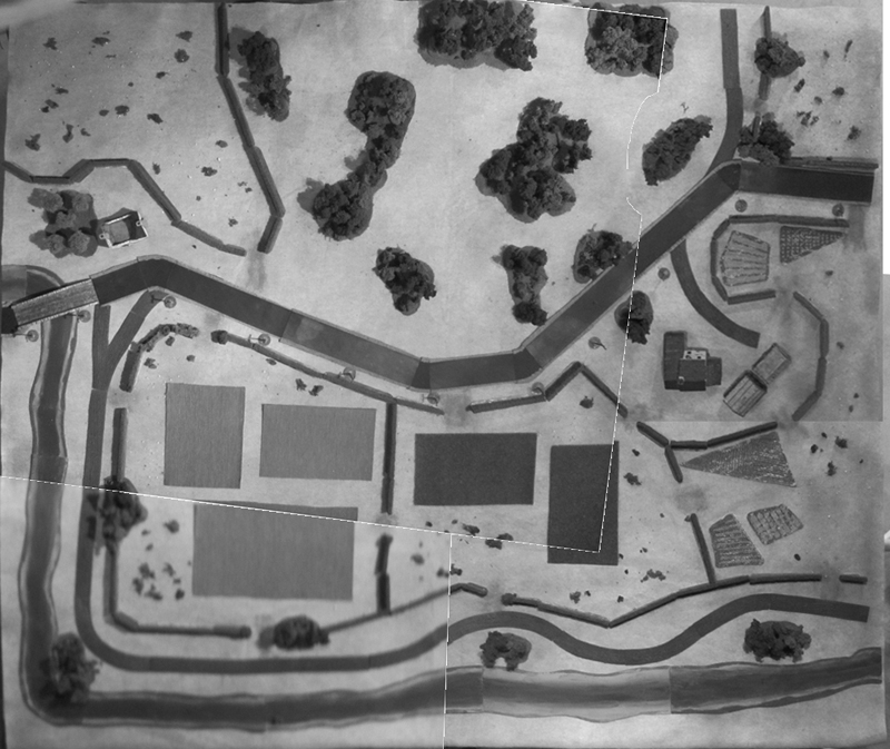 A great idea: aerial reconnaissance photograph given to the Allied Player rather than just a map of the table