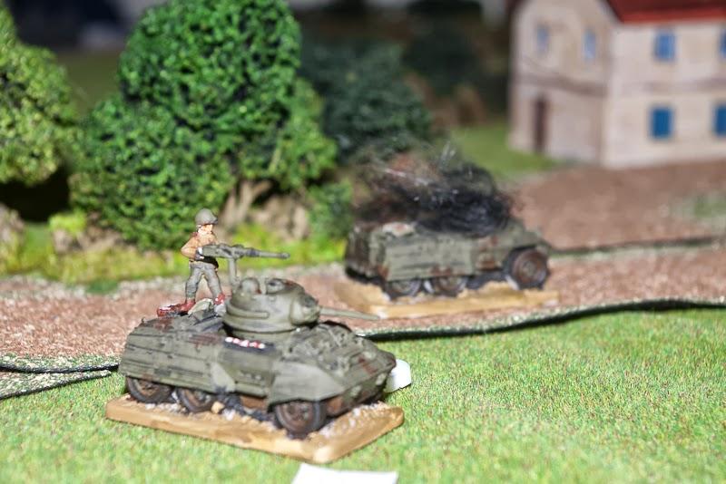 Panzerschreck hits, US big man plays hero