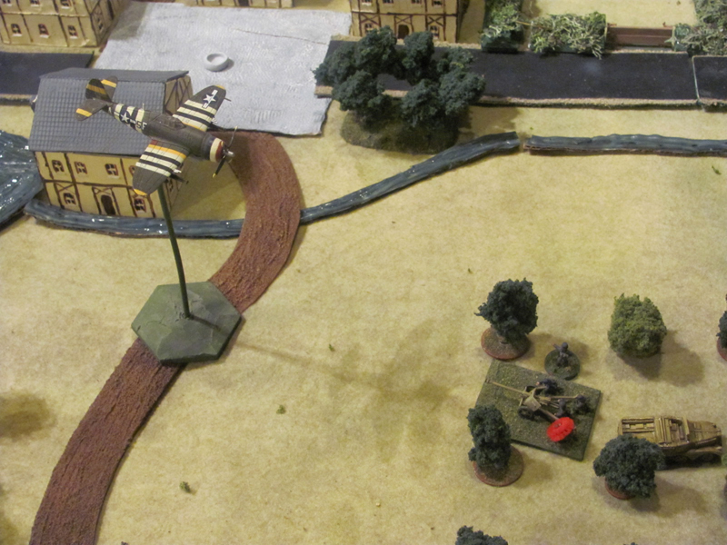 The Allied air force was not a meaningful factor in the game as they were unable to score hits on the German positions
