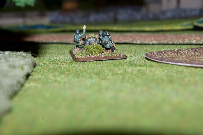 The 75mm infantry gun gave a good showing, but could not engage half a dozen Shermans alone