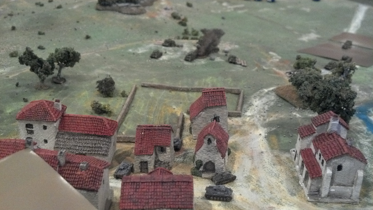 German 1st tanks take the village