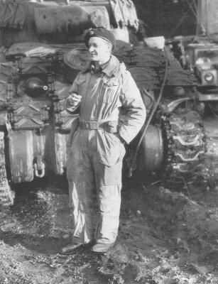 Major David Currie, winner of the Victoria Cross for his actions at Saint Lambert-Sur-Dives in August 1944