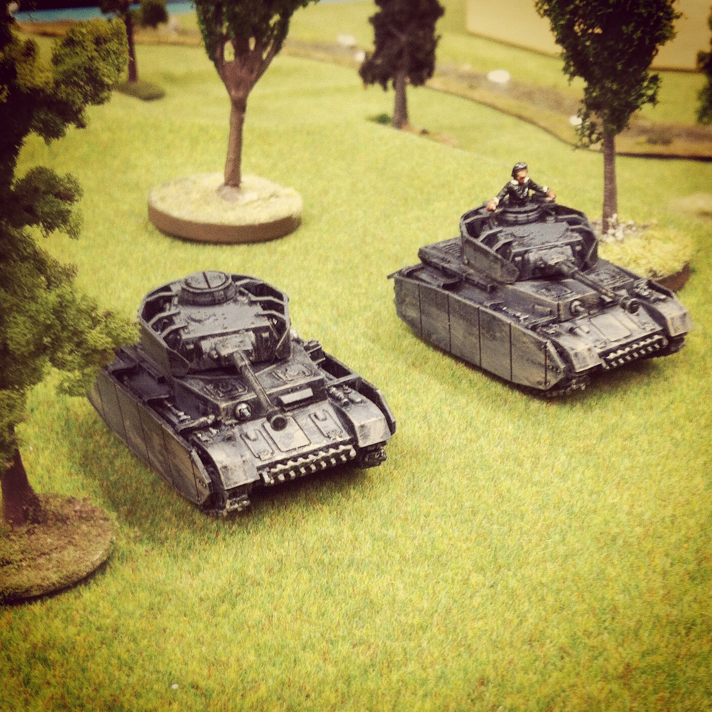 Panzer IVs occupy the orchard at the southwest corner of Saint Lambert-Sur-Dives