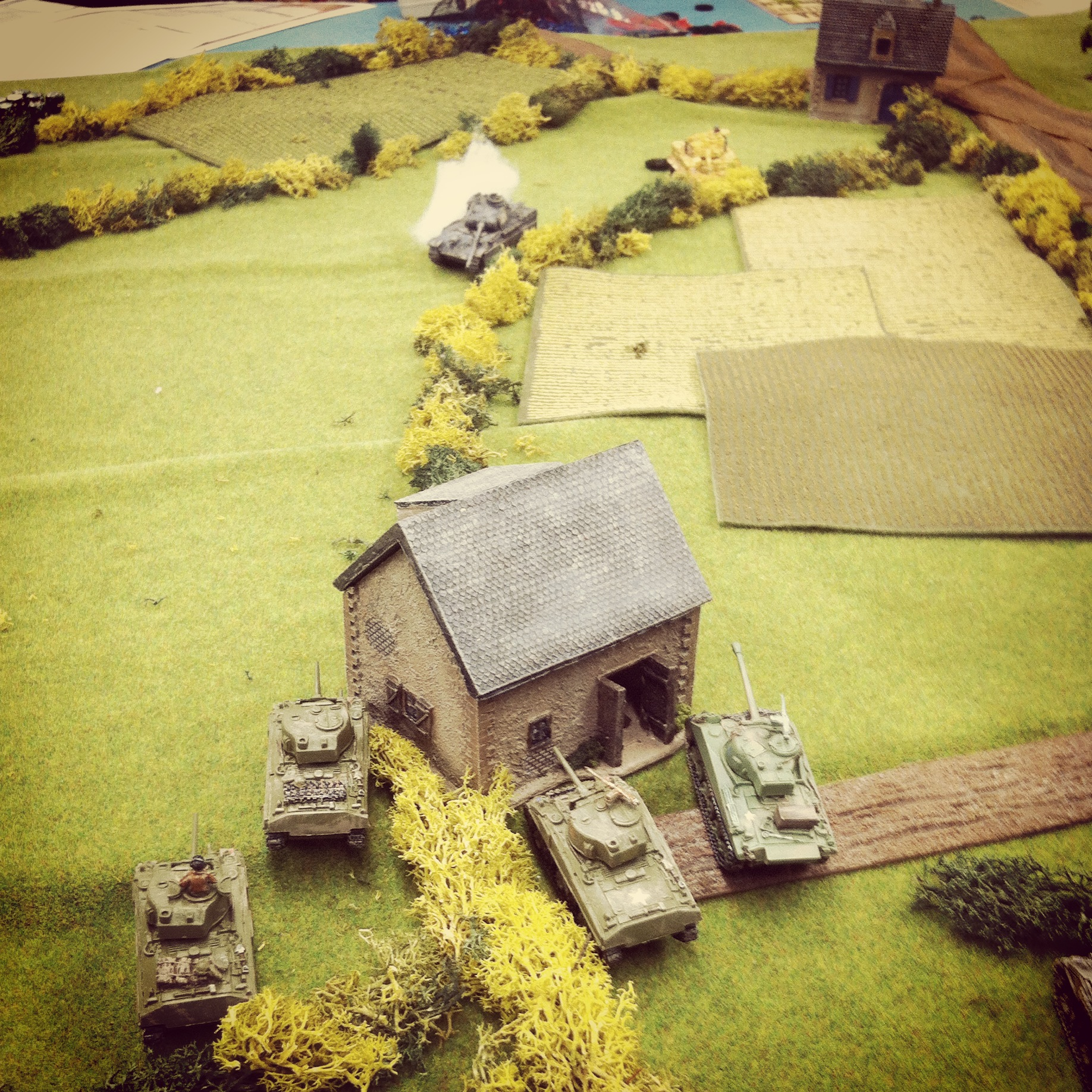 Canadian and German tanks exchange fire to the southeast of Saint Lambert-Sur-Dives