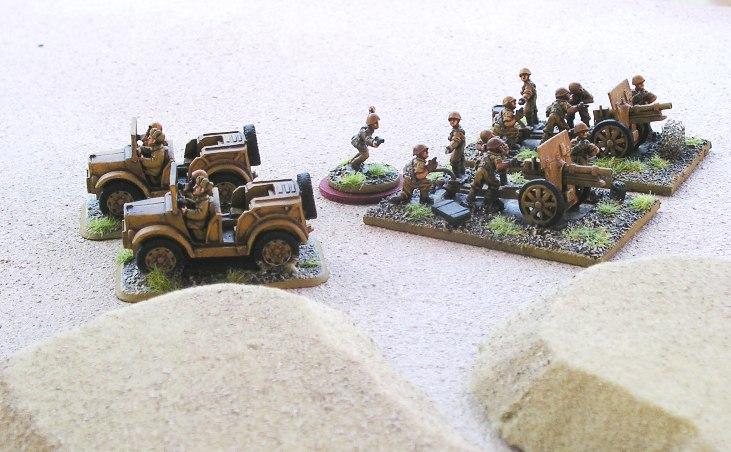 Italian guns, British tanks