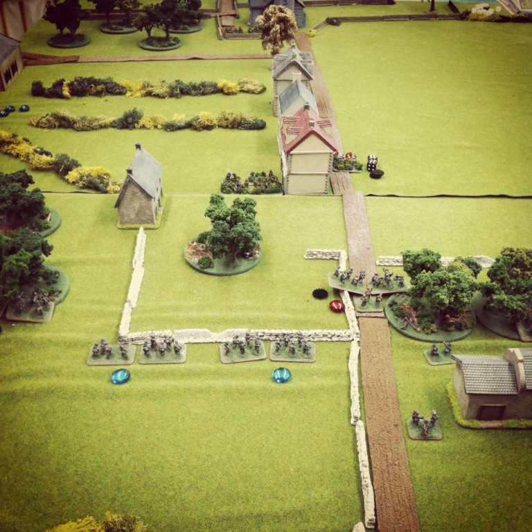 Americans pull back from the farm to take position in Vierville