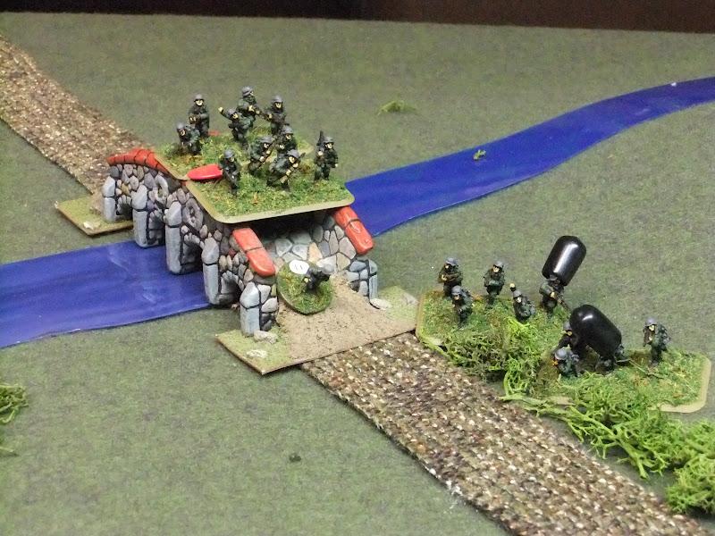 First platoon crosses the second bridge