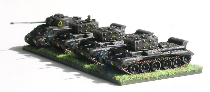 Troop One(3 x Cromwell, 1 x Sherman VC)