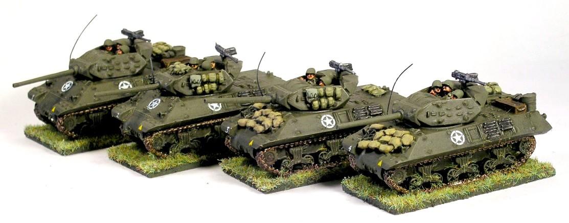 """SP Tank Destroyer Platoon Option One: 1943-4 (4 x M10 """"Wolverine"""" Tank Destroyer)"""