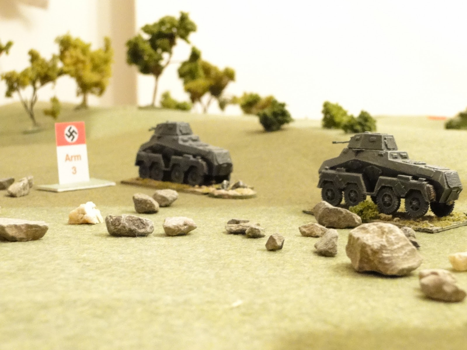 The German Recce armoured cars break loose in the Russian rear.