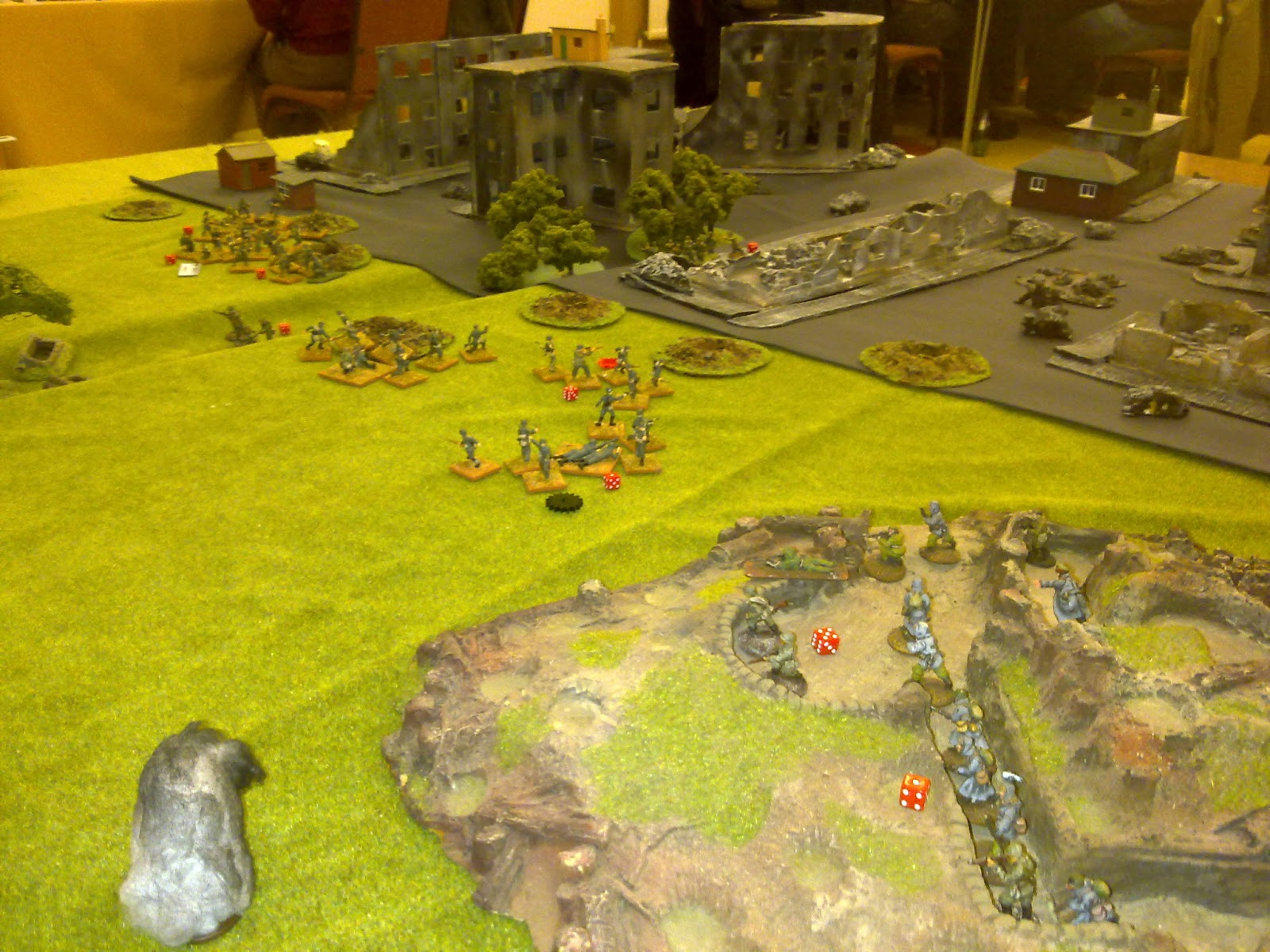 1st Platoon starts to take casualties and shock
