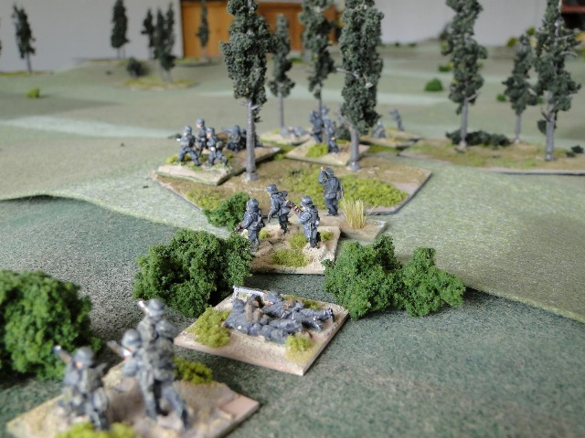 Kampfgruppe 2 defending the woods