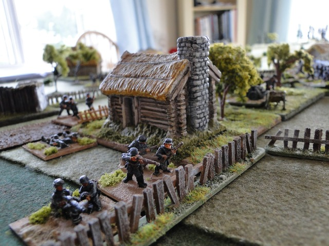 Kampfgruppe 1 on the village perimeter