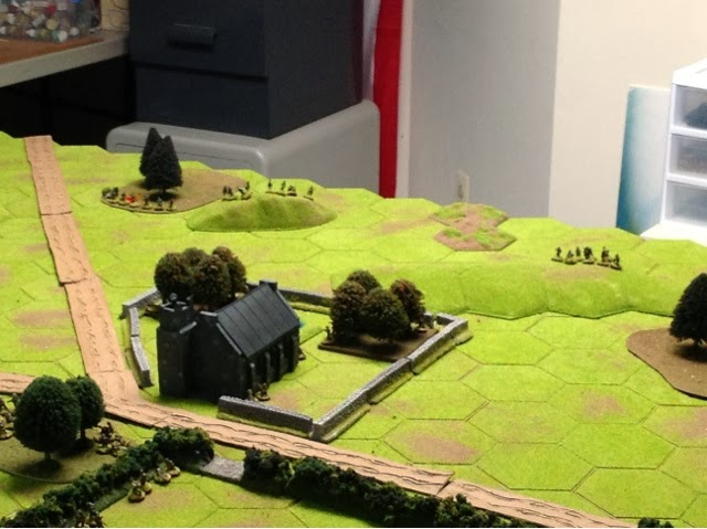 Whilst another platoon works the British right flank