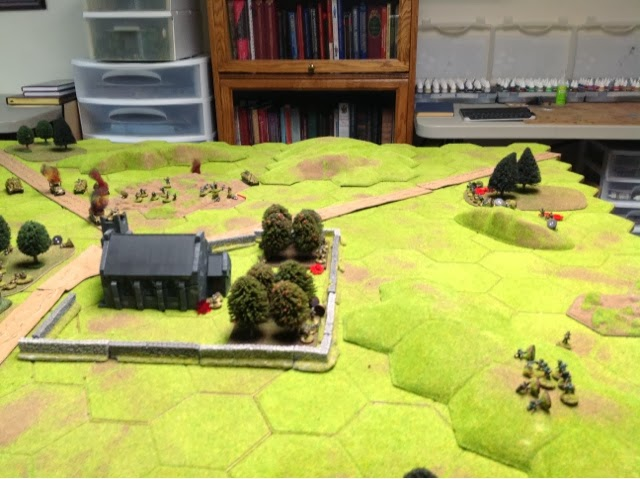 """The flank attack has some success, but the 2"""" mortar rips one squad to pieces"""