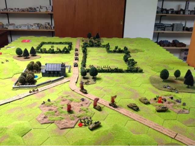 Germans start to pull back as the British tanks arrive