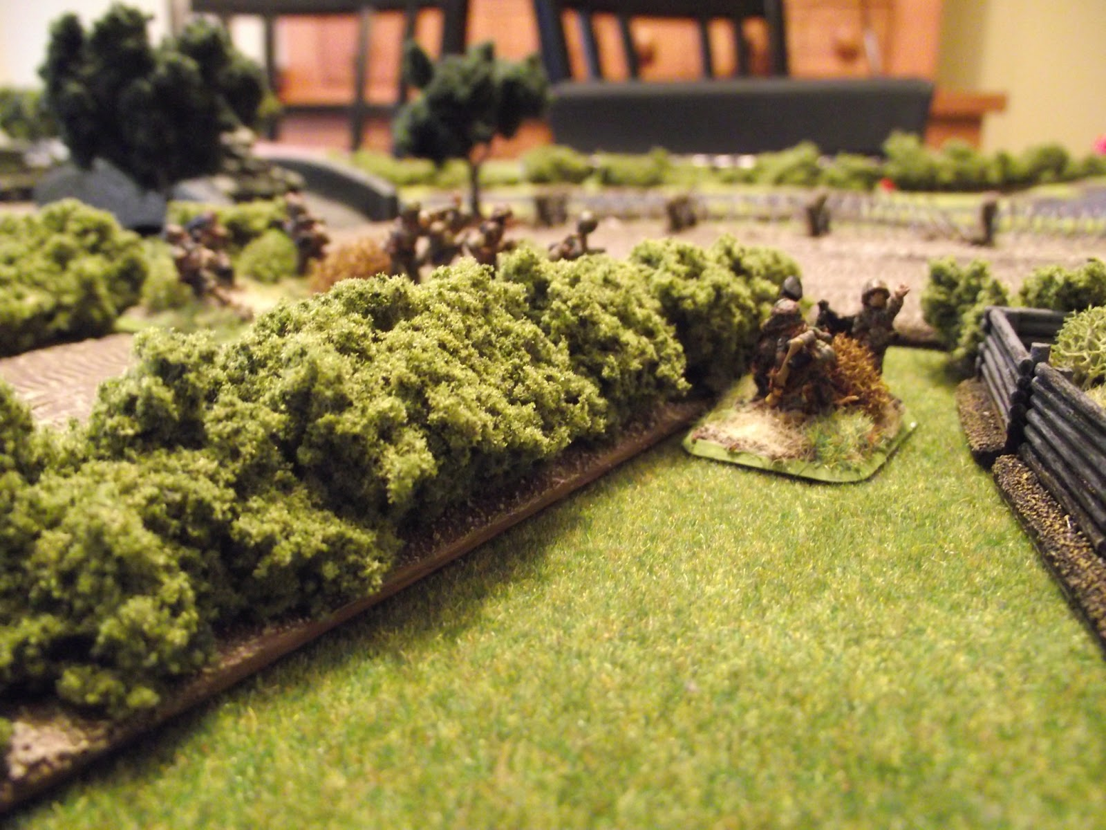 A shot of German platoon two, defending the objective.