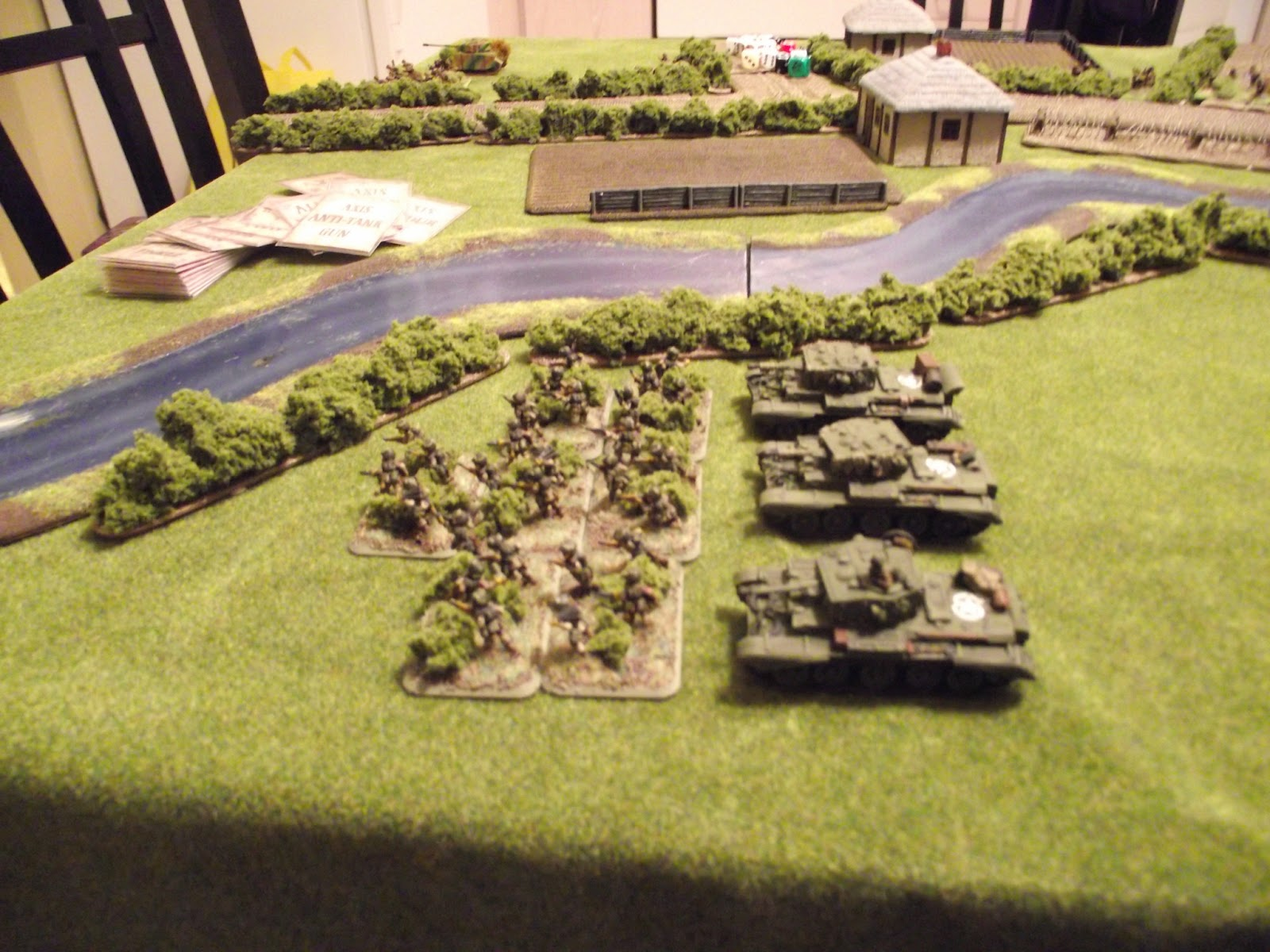 Allied casualties: three Cromwells and twenty-eight Paras (mostly to MG42 fire).